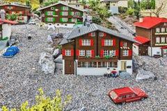 GUNZBURG GERMANY - APRIL 23: Miniland at Legoland Deutschland Stock Photos