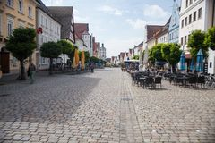 Gunzburg Main Street Stock Images