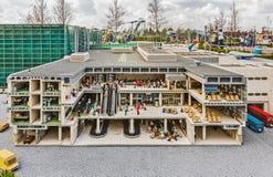 Gunzburg, GERMANY - MARCH 26: Legoland - mini Europe. From LEGO bricks on March 26, 2016, Gunzburg, Germany Royalty Free Stock Photo