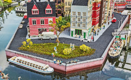 Gunzburg, GERMANY - MARCH 26: Legoland - mini Europe. From LEGO bricks on March 26, 2016, Gunzburg, Germany Royalty Free Stock Photos