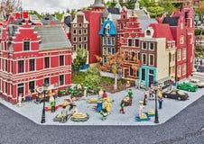 Gunzburg, GERMANY - MARCH 26: Legoland - mini Europe from LEGO. Bricks on March 26, 2016, Gunzburg, Germany Royalty Free Stock Photography