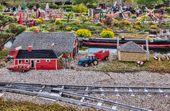 Gunzburg, GERMANY - MARCH 26: Legoland - mini Europe from LEGO. Bricks on March 26, 2016, Gunzburg, Germany Stock Photography