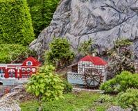 Gunzburg, GERMANY - MARCH 26: Legoland - mini Europe from LEGO. Bricks on March 26, 2016, Gunzburg, Germany Stock Photo