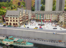 Gunzburg NIEMCY, SIERPIEŃ, - 08: Legoland - mini Europa od LEGO cegieł na Sierpień 08, 2015, Gunzburg, Niemcy Fotografia Royalty Free