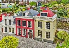Gunzburg TYSKLAND - MARS 26: Legoland - mini- Europa Arkivbild