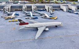 Gunzburg TYSKLAND - MARS 26: Legoland - mini- Europa från LEGO Fotografering för Bildbyråer