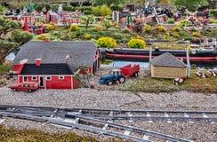 Gunzburg TYSKLAND - MARS 26: Legoland - mini- Europa från LEGO Arkivbild