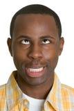głupia twarz człowieka Obrazy Royalty Free