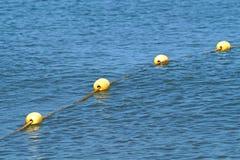 Guppa boj för hav för säkerheten av maritimt arkivfoton