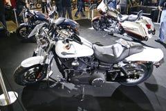 guppa för fxdfharleyen för davidson den feta motorcykeln Arkivfoto