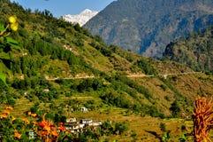 Guptkashi,Kedarnath. A lush green town in Kedarnath Stock Photography