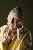 Gurú del teléfono celular Fotografía de archivo libre de regalías