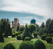 Gur埃米尔陵墓撒马而罕,乌兹别克斯坦 免版税库存照片