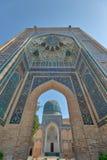 Gur-e-Amir Mausoleum in Centraal Samarkand, Oezbekistan langs stock afbeelding