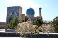 Gur-e-Amir Mausoleum in Centraal Samarkand, Oezbekistan royalty-vrije stock afbeeldingen