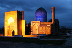 Gur e Amir Mausoleum dans Samarqand, l'Ouzbékistan, l'Asie centrale Photo stock