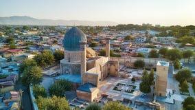 Gur-e-Amir mausoleum i centrala Samarkand, Uzbekistan längs arkivbilder