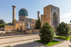 Gur-E Amir Mausoleum, i Samarkand, Uzbekistan Arkivbilder