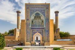 Gur-E Amir Mausoleum, i Samarkand, Uzbekistan Royaltyfria Bilder