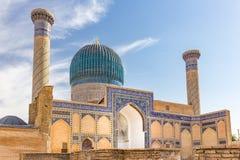 Gur-E Amir Mausoleum, i Samarkand, Uzbekistan royaltyfri fotografi