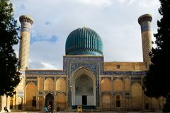 Gur-e Amir Mausoleum in Samarqand Stock Photography