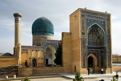 Gur-e Amir Mausoleum in Samarqand Stock Photo