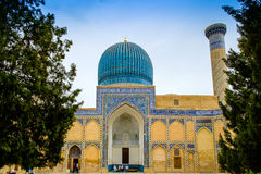 Gur Emir mausoleum of the Asian conqueror Tamerlane Royalty Free Stock Photo
