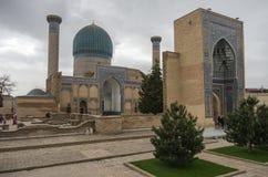 Gur Emir mausoleum av den asiatiska besegraren bekanta Tamerlane (också royaltyfri fotografi
