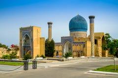 Gur Emir mausoleum av den asiatiska besegraren Tamerlane Royaltyfria Bilder