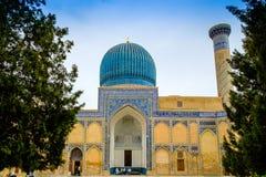 Gur Emir mausoleum av den asiatiska besegraren Tamerlane Royaltyfri Foto