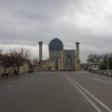 Gur-emir mausoleum av Tamerlane (också som är bekant som Timur) i Samarka Royaltyfri Bild