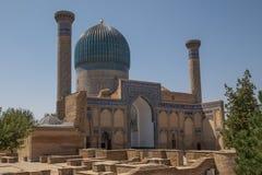 Gur-emir mausoleum i Samarkand, Uzbekistan arkivbilder