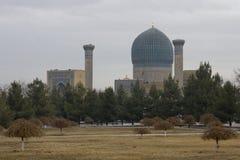 Gur-Emir mausoleum of Tamerlane (also known as Timur) in Samarka Stock Photos