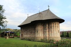 Gura Humorului monaster w Bucovina Rumunia Fotografia Stock
