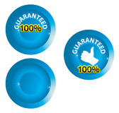 Guranateed label. 100% symbol for totally guaranteed product Stock Photos