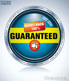 Guranateed label. 100% symbol for totally guaranteed product Royalty Free Stock Photo