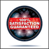 Guranteed label. 100% symbol for totally guaranteed product Royalty Free Stock Photos