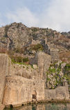 Gurdic Bastion and town walls in Kotor, Montenegro Royalty Free Stock Photos