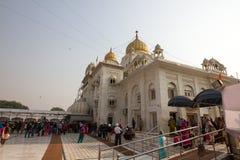Gurduwara锡克教徒的寺庙在德里印度 免版税库存图片