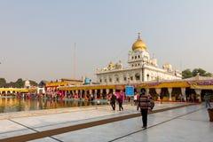Gurduwara锡克教徒的寺庙在德里印度 图库摄影