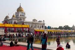 Gurduwara锡克教徒的寺庙在德里印度 库存图片