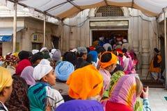 Gurduwara锡克教徒的寺庙在德里印度 库存照片