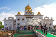 Gurdwara Bangla Sahib Temple in Delhi Stock Image