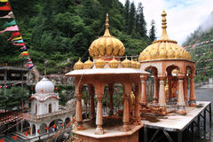 Gurdwara Manikaran Sahib tample in Manikaran town, India Stock Images