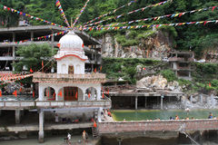 Gurdwara Manikaran Sahib tample in Manikaran town, India Royalty Free Stock Photos