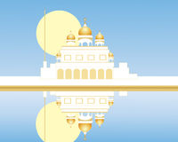 Gurdwara with reflection Royalty Free Stock Images