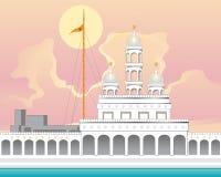Gurdwara with sunrise Royalty Free Stock Images