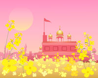 Gurdwara at sunset Stock Image
