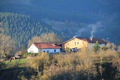 Gureia auzoa, Aramaio, Basque Country. Gureia neighborhood in autumn; Aramaio, Araba, Basque Country Stock Images