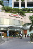Gurgaon, Delhi, India: Sierpień 22nd 2015: Wejściowa brama sławny nastroju zakupy centrum handlowe w Gurgaon fotografia stock